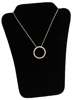 Black Velvet Padded Necklace Pendant Jewelry Display 6