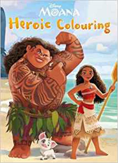 Disney Moana Heroic Colouring, New, Parragon Book