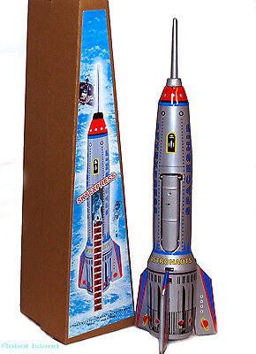 Alexander Taron Friction Driven Tin Toy Rocket Ship Space Toy SALE!