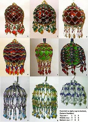 SALE - Beaded Christmas Ornament Cover Patterns - Nine Beading Tutorials on CD - Christmas Ornament Sale
