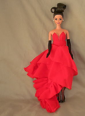 NEW SILKSTONE BARBIE HT LAYERED RED CHIFFON FASHION GOWN DRESS CLOTHES FAST SHPG