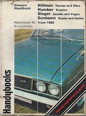 SUNBEAM RAPIER H120 & ALPINE GT FASTBACK 1967 - 1976 OWNERS REPAIR HANDBOOK
