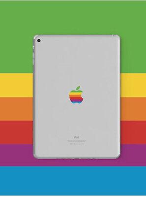 80s' Apple Rainbow Logo Transparent Back Cover Sticker iPad mini 2 3 4 5 Retina