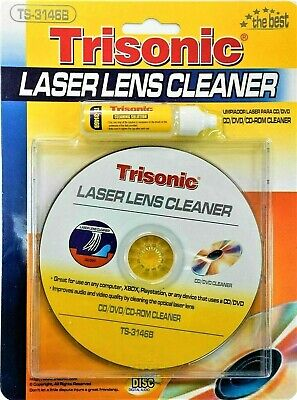 DVD VCD CD CD-ROM LENS CLEANER ROM PLAYER CLEANING TV GAME WET & DRY WITH MUSIC Rom Lens Cleaner