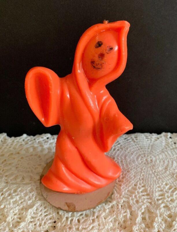 Vintage Gurley Orange Ghost Halloween Candle