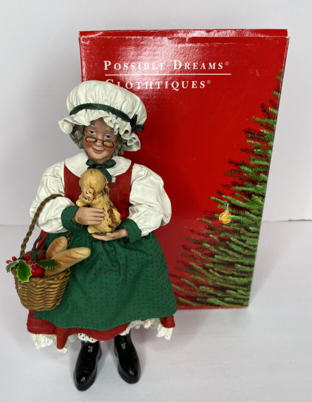 Possible Dreams Clothtique Dept 56 Mrs. Claus Puppy Love 713117 Retired 1994 Box