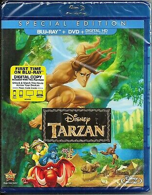 Disney Tarzan (Special Edition) Blu-ray + DVD BRAND NEW