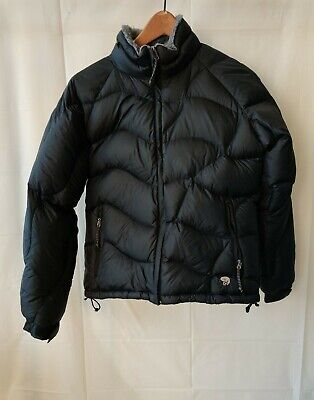 Mountain Hardwear Down Puffer Women's Black Sherpa Lined Jacket Sz Small Petite for sale  Shipping to South Africa