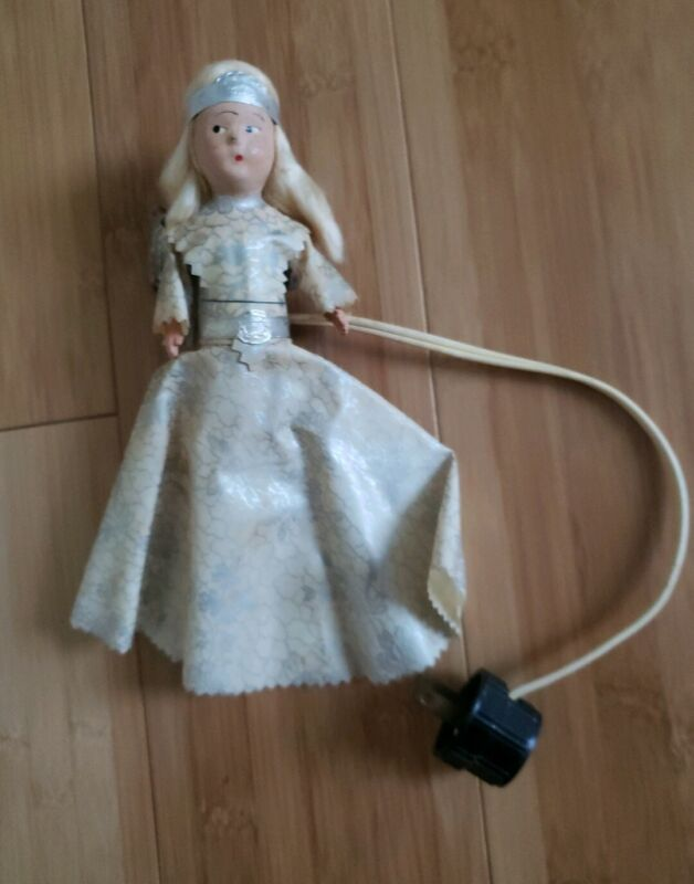ANTIQUE ANGEL CHRISTMAS TREE TOPPER ~ COMPOSITION HANDS, ARMS & FACE