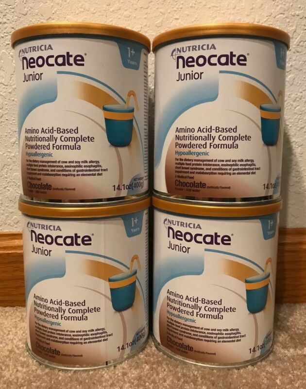 Neocate Jr Junior Chocolate Hypoallergenic Infant Formula - 4 Cans - 14.1 Oz Can