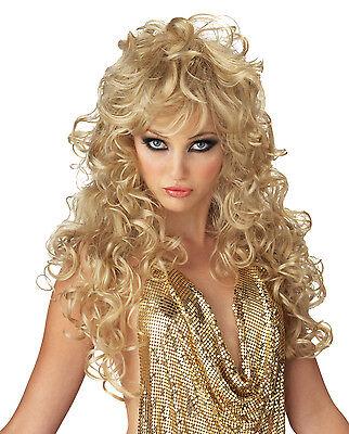 Seduction Girls Gone Wild Adult Costume Wig - Blonde, Black , Brown  Adult Brown Seduction Wig