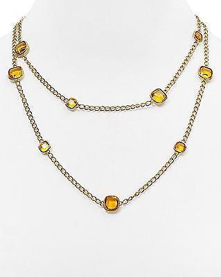 Michael Kors Women Citrine Colored Stone Gold Tone Necklace MKJ4238710 $185.00