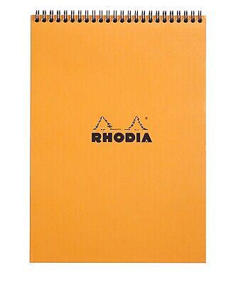 Rhodia Wirebound Notebook 8 14 X 11 34 Graph Orange