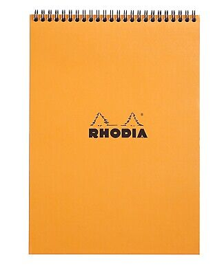 Rhodia Wirebound Notebook 8 14 X 11 34 Lined Orange