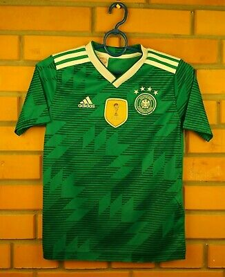 2fe953c22 Germany soccer kids jersey 9-10 years 2018 away shirt BR3146 football Adidas