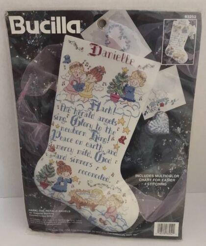 cross stitch stocking kit hark the herald