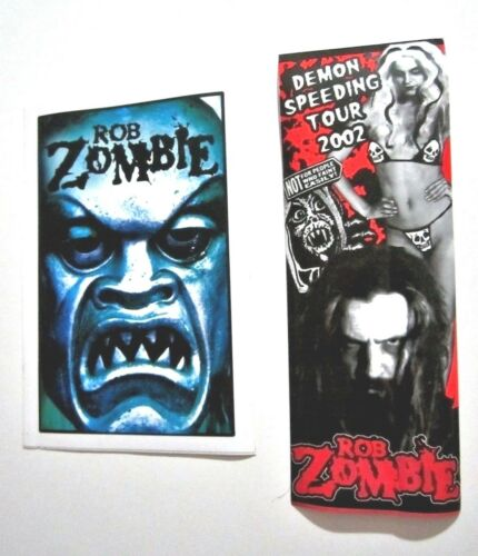 Rob Zombie Lot 2 - Demon Speeding Tour 2002 and 2001 Promo Stickers