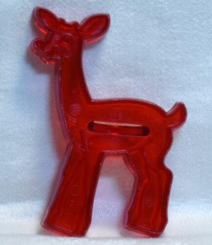 Vintage Cookie Cutter - Rudolph Red Nose Reindeer Fawn Bambi Christmas Deer Cute