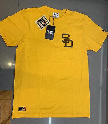 New Era Cooperstown MLB Stadium Tee Shirt Yellow Medium Brand New With Tag