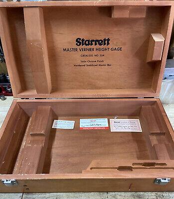 Starrett Tools Master Veneer Height Gauge Catalogue Number 254 Wood Box Only