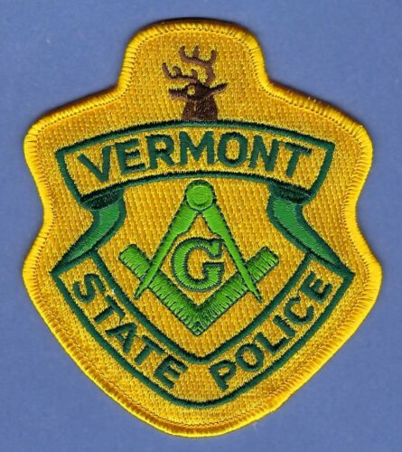 VERMONT STATE POLICE MASONIC LODGE SHOULDER PATCH