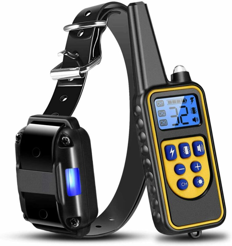 Shock Collar for Dogs Pet Dog Training Remote 2624FT LCD Waterproof Rechargeable