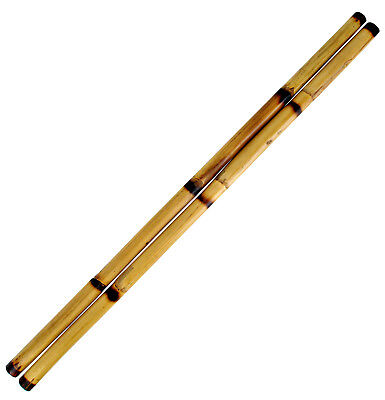 "Escrima Sticks (Pair), 28"" Multi-Node Rattan Kali Arnis - Burnt with Skin"