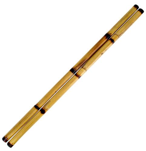 "Escrima Sticks (Pair), 26"" Long  Multi-Node Rattan Kali Arnis - Burnt with Skin"