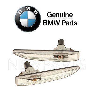 For BMW E65 E66 745Li 750Li Set of Front Side Marker Lights White Lenses OES