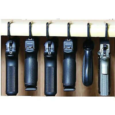 Handgun Rack Pistol Hangers Display Storage Gun Safe Holder Organizer 6 Pack NEW