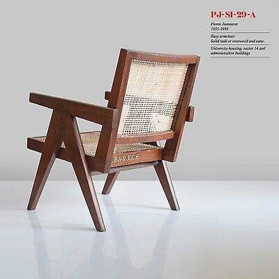 1 ORIGINAL PIERRE JEANNERET Chandigarh EASY ARMCHAIR Corbusier PJ-SI-29-A