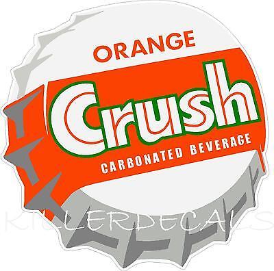 12 Orange Crush Soda Coca Cola Pepsi Cooler Pop Machine Decal Sticker