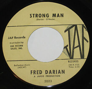 Fred-Darian-7-45-HEAR-POPCORN-SOUL-Strong-Man-JAF-NORTHERN-MOD-CLASSIC