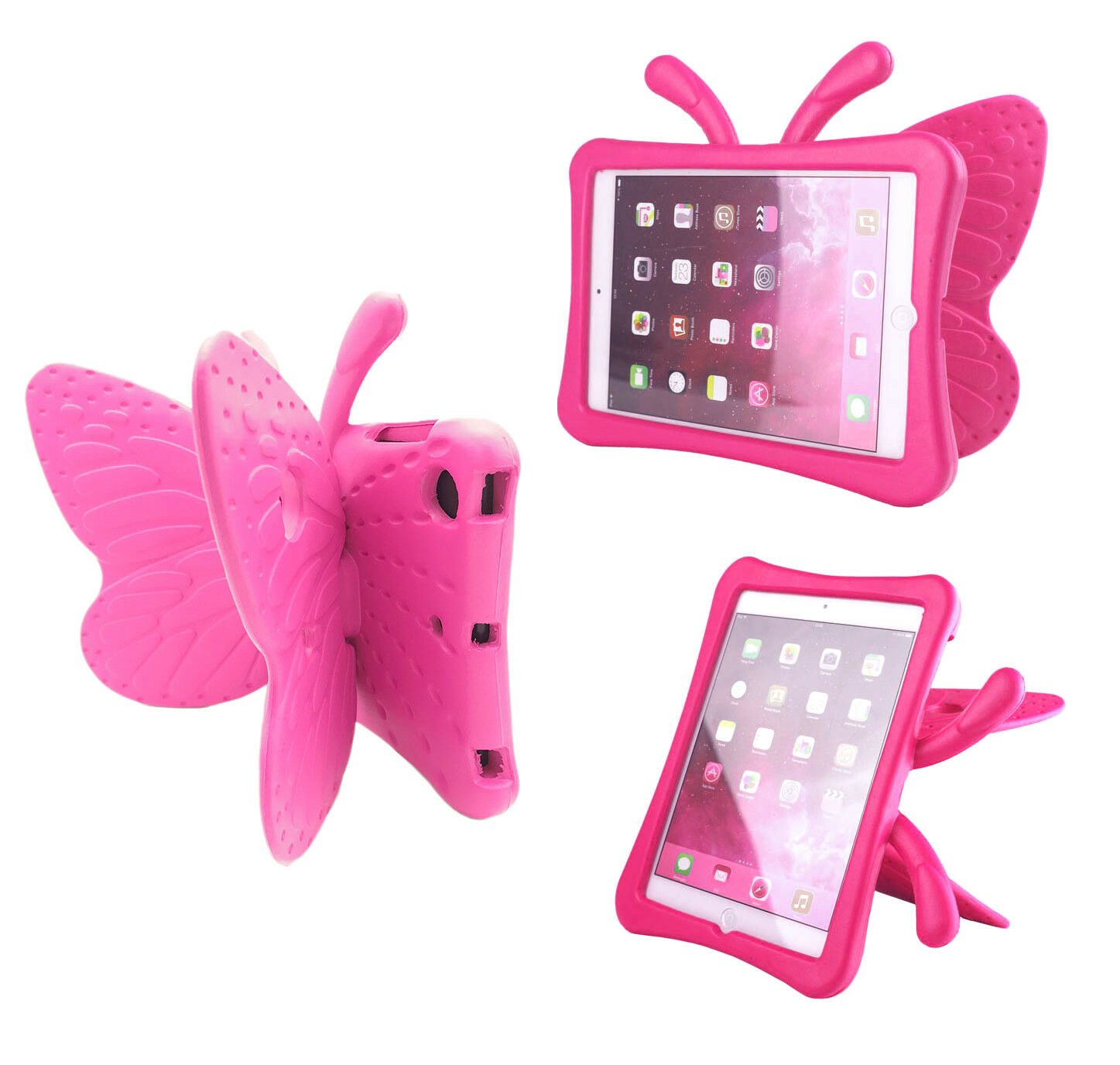 EVA Shockproof Kids Handle Foam Case Cover Stand For iPad Mini 1 2 3 4 Butterfly Cases, Covers, Keyboard Folios