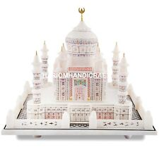 Beautiful White Marble Color Taj Mahal Replica Handmade