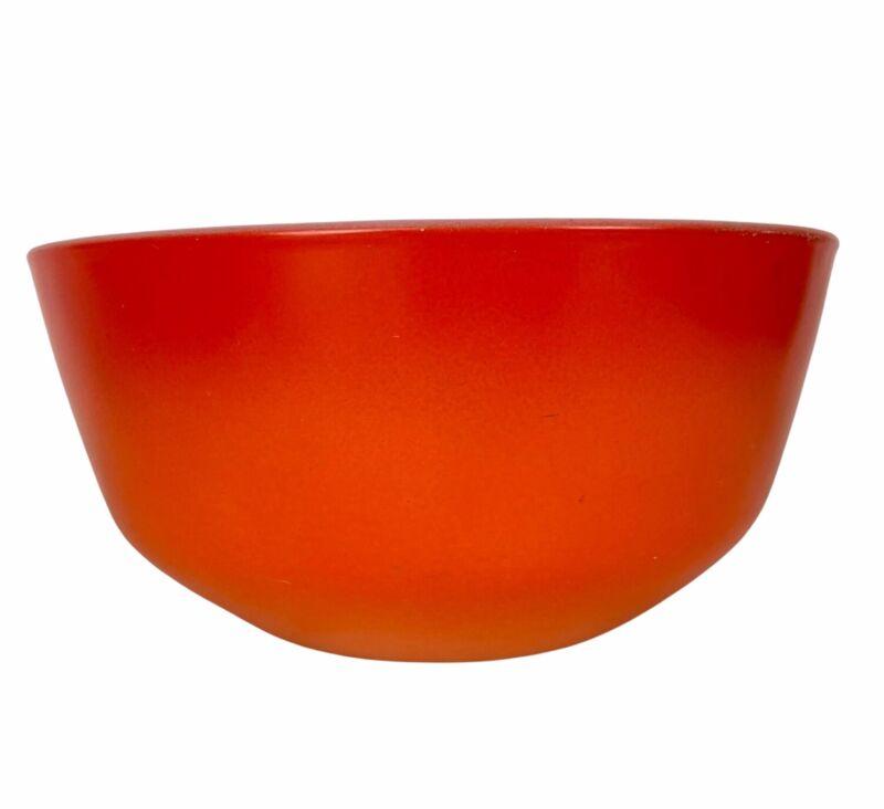 Vintage Fire King Orange Ombre Flame 6 oz Cereal Bowl