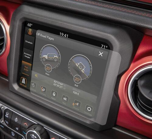 """2x 2018 2019 Jeep Wrangler 8.4"""" UCONNECT Infotainment Touch Screen Protector"""