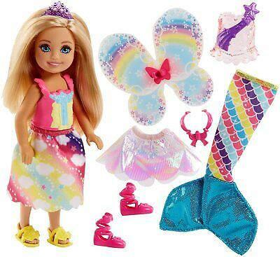 Barbie FJD00 Dreamtopia Chelsea Mermaid Doll Playset, Multi-Colour