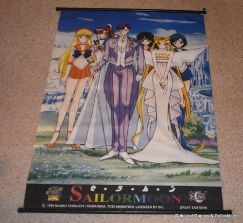 WALL HANGING-SCROLL SAILOR MOON Manga Anime 1998 about 31 wide 43 tall