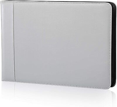 7 Ring Business Check Book Binder 3-on-a-page Zippered Leather Look Vinyl New