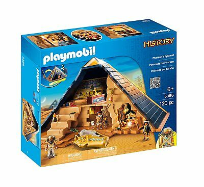 PLAYMOBIL History 5386 Pharaoh Pyramid Ages 6+ New Toy Gift Mummy Puzzle Tomb