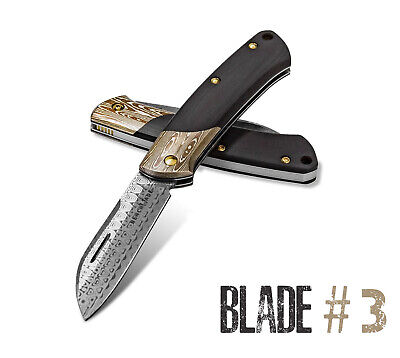 Benchmade 319-201 Blade #3 Limited Gold Class Edition Damasteel Burgundy Black