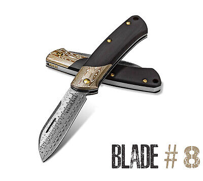 Benchmade 319-201 Blade #8 Limited Gold Class Edition Damasteel Burgundy