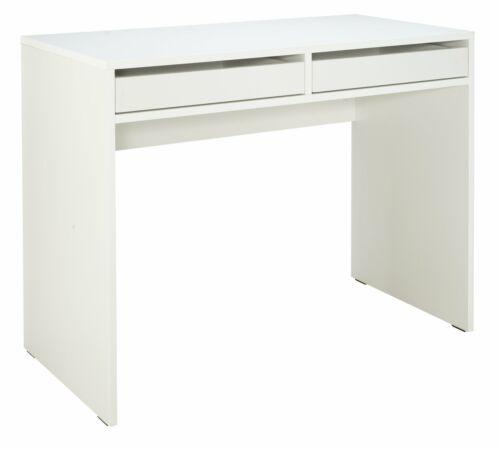 Argos Home Mia 2 Drawer Solid Pine /& MDF Office Desk White