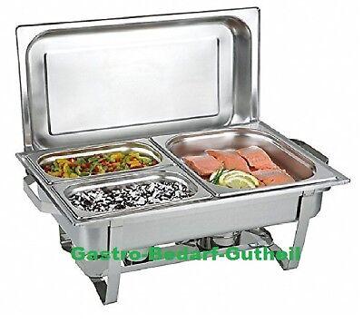 Chafing Dish Speisenwärmer inkl. 2 x GN Behälter 1/4 + GN Behälter 1/2