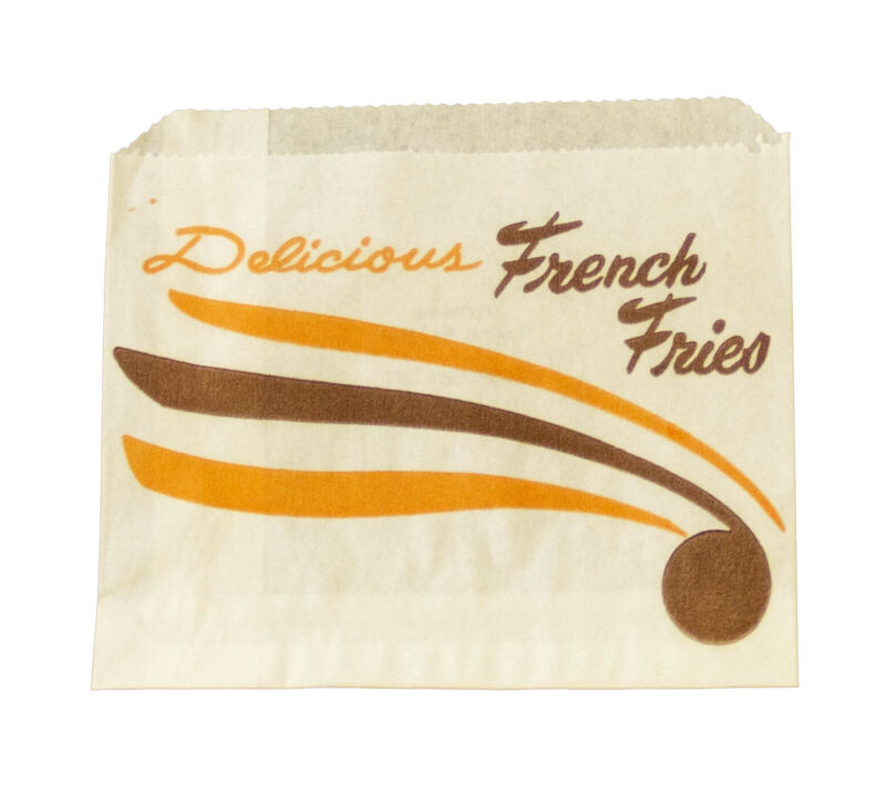*Closeout Price - Limited Quantity* 10,000 Small Printed French Fry Paper Bags