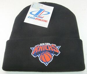 NBA New York Knicks Cuffed Knit Hat By Logo Athletic