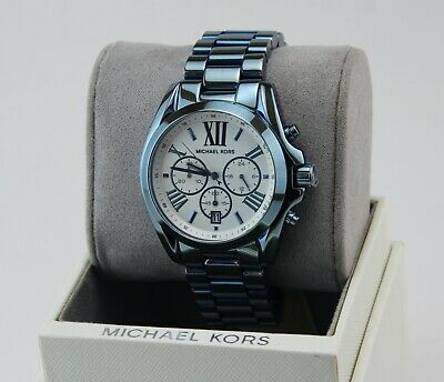 NEW AUTHENTIC MICHAEL KORS BRADSHAW OCEAN BLUE CHRONOGRAPH WOMEN'S MK6488 WATCH