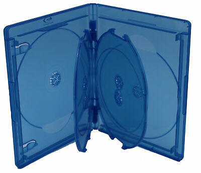 New Bluray Replacement 15mm 6-Disc Blu-Ray Single With Logo Premium Movie Cases