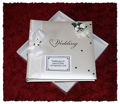 Personalized Wedding Albums (  Wedding Photo Album Boxed Personalised Gift Bridal Gift   Cellini Albums)
